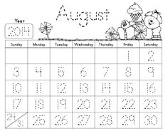 Traceable monthly calendars. These are free and so kid friendly.