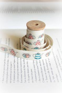 Glorious Tea cotton tape by lillalotta on Etsy, $4.95