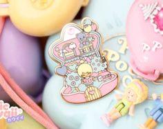 Lot 3 x Enamel pin polly pocket style chic kawaii magic pastel kawaii cute pins heart, star and clock Polly Pocket, Bloom Baby, Perfect Peach, Jacket Pins, Cool Pins, Metal Pins, Pin And Patches, Battle Jacket, Kawaii Cute