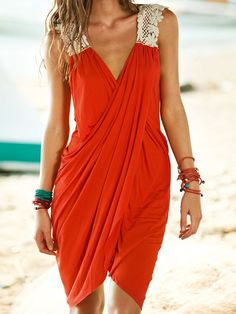Coverup Crossover Dress For The Beach
