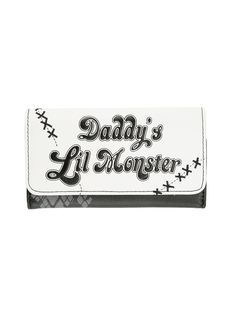 DC Comics Suicide Squad Harley Quinn Daddy's Little Monster Flap Wallet | Hot Topic