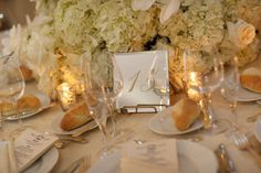Wedding Table Number - Mirror