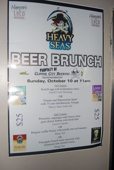 Alonso's Beer Brunch. Yes, beer for breakfast!