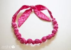 DIY Fabric Necklaces: Trendy necklaces made of fabric and marbles. This tutorial will show you how to make your own.