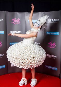 My friends and I made a dress out of over 2000 badminton shuttlecocks for a competition called Junk Kouture. Please vote for our dress on Junk Koutures Facebook page. Our dress is called Wingin It. It only takes a second to vote and it would be really appreciated so please do!❤️