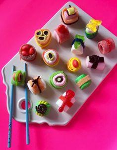 La recette des sushis bonbons!