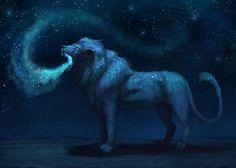 Galaxy Lion by JadeMere.deviantart.com on @DeviantArt