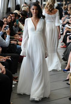 Peasant Sleeve Wedding Dress | Delphine Manivet Fall/Winter 2015 | blog.theknot.com