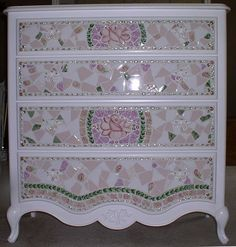Custom Mosaic China Dresser