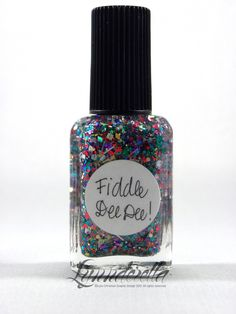 Fiddle Dee Dee! is dedicated to strong-willed women everywhere and one feisty Southern belle in particular... multi-glitter with large squares. Smelling salts not included.