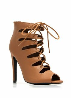 Happy Hour Lace-Up Booties