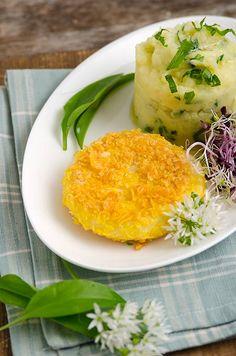 Rezept mit Bild für Tomme mit Bärlauch-Kartoffelstampf - foolforfood.de