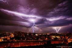 lightning storm in Poznan (Poland)