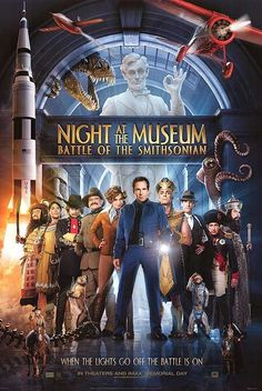 Directed by Shawn Levy.  With Ben Stiller, Owen Wilson, Amy Adams, Hank Azaria. Security guard Larry Daley infiltrates the Smithsonian Institution in order to rescue Jedediah and Octavius, who have been shipped to the museum by mistake.