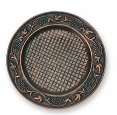 "Antique Embossed ""Heritage"" Copper Charger Plate"