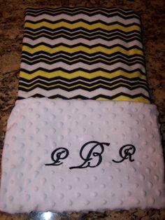 Soft personalized minky fabric blanket 30 x by PreciousLoveDesigns, $30.00