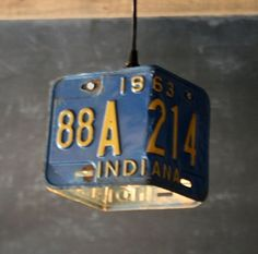Vintage Industrial Blue Pendant Lamp Repurposed Assemblage Hanging Studio Light (diy home decor for teens boys) Vintage Industrial Furniture, My New Room, Repurposed, Decoration, Room Decor, Pendant Lamp, Pendant Lighting, Design, Home