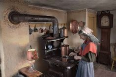 "from ""The Private World of Tasha Tudor"" photos Richard W Brown.  --love the stove!!"