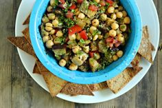 Grilled Eggplant and Chickpea Sephardic Salad - What Jew Wanna Eat