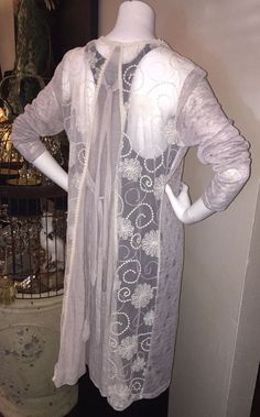 89c85a17fdd84 Anthropologie PRIMROSE Brand Lace Inset Cardigan LARGE