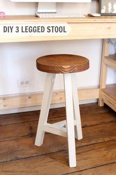 desk stool, 3 legged stool, wood stool with 3 legs, diy stool Desk Stool, Wood Stool, Workbench Stool, Workbench Plans, Furniture Plans, Diy Furniture, Luxury Furniture, Modern Furniture, Futuristic Furniture