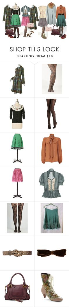 """Vintage Fall 2017"" by di-ma-rivera ❤ liked on Polyvore featuring Anthropologie, Emilio Pucci, Free People, Etro, Marc Jacobs, Chloé, Poetic Licence, Chie Mihara, Chanel and vintage"