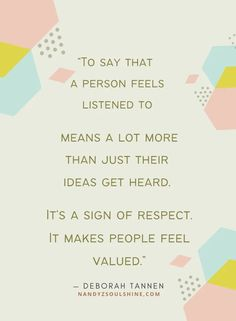 Being understood, valued, & respected validates us. Active listening skills empowers you to make the other person feel just that. Click to read why & how to become an effective listener. Don't forget to download the helpful Free 'becoming a better listener' worksheets #activelisteningskills #listen #selfimprovement #success #relationships #happiness Mindfulness Psychology, What Is Mindfulness, Mindfulness Exercises, Mindfulness Activities, Good Listening Skills, Active Listening, Skills To Learn, Life Skills, Good Readers
