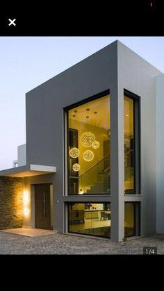 Beautiful facade and entrance Modern Exterior, Interior Exterior, Exterior Design, Luxury Modern Homes, Modern Contemporary Homes, Modern Architecture Design, Facade Architecture, Cottage Design, House Design