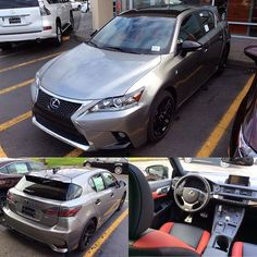 The brand-new 2016 Lexus CT 200h F SPORT Special Edition features an Atomic Silver exterior with special black accents and a two-toned Black and Scarlet interior. With only 500 units made, you might want to come and see this beauty in person. #2016LexusCT200h #LexusCT #Lexus #FSPORT #WheelCrushWednesday #WCW