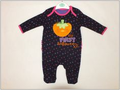 Baby Strampler Kürbis Overall Halloween Orange gr 56 62 68 74 80 86 Englandmode