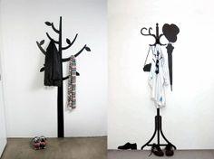 Solução criativa para um cabideiro na parede