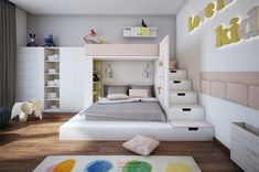 Choose from the largest collection of Kids Room Design & Decorating Ideas to add style. Discover best Kids Room interior inspiration photos for remodel & renovate. Cool Kids Bedrooms, Kids Bedroom Designs, Cute Bedroom Ideas, Home Room Design, Room Ideas Bedroom, Small Room Bedroom, Kids Room Design, Awesome Bedrooms, Small Rooms