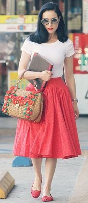 50's retro street wear, complements of Dita Von Teese. This is soooo close to my…