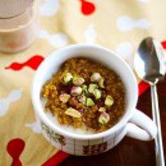 Spiced Pumpkin Quinoa Porridge with Pistachios