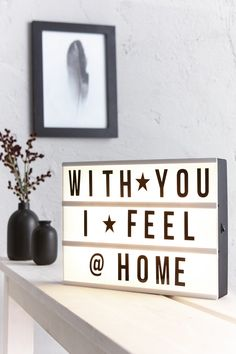 70 coole spr chen f r deine lichtbox quotes lightbox beautiful home pinterest box. Black Bedroom Furniture Sets. Home Design Ideas
