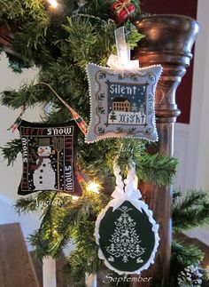 Stitching Dreams: 2011 Christmas Ornaments and Crazy for Cranberries