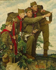Norman Rockwell paintings for Boy Scouts of America. LDS Church History Museum, Salt Lake City. Image courtesy of artist Howard Lyon.