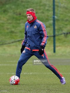 Seb Larsson during a Sunderland training session at the Academy of Light on March 09, 2016 in Sunderland, England.