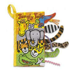 Jellycat Jungly Tails Book, what a lot of funny friends, all packed into the Jungly Tails Book! Get to know jungle animals by their tails. Little People, Little Ones, Baby Toys, Kids Toys, Dinosaur Tails, Mulberry Bush, Animal Tails, Storing Baby Clothes, Jellycat