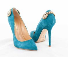 From Roberta Cenci Fall/Winter Collection 2014: Rubina - Decoltè in Cobalto Suede, with Swarovski Stones. #RobertaCenci #boots #stivali #ZipZone #Paris #Dubai #Milano #Italy #shoes #woman #donna #scarpe #tacco #collection #fashion #style #stylish #Marche #design #footwear #instagood #handmade #decoltè #suede #Swarovski #stones