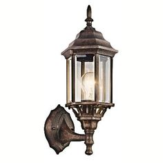 Kichler - 49255TZ - One Light Outdoor Wall Mount - Tannery Bronze  This 1 Light Outdoor Wall Lantern From The Chesapeake Collection Embodies America`S Coastal Communities. Featuring A Lantern-Like Shape In A Tannery Bronze Finish, It Is Formed From Die-Cast Aluminum By The Finest Craftsmen In The Industry.