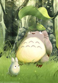 Totoro | by Kaze-Hime.deviantart.com on @deviantART | My Neighbor Totoro | Miyazaki | Studio Ghibli