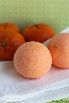 Orange Bath Bomb | 12 DIY Bath Bombs | Bath Bombs Made Easy, see more at: http://diyready.com/diy-bath-bombs-bath-bombs-made-easy/