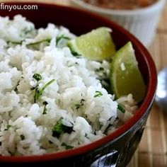 Lime Cilantro Rice - 2 cups water, 1 tablespoon butter, 1 cup long-grain white rice, 1 teaspoon lime zest, 2 tablespoons fresh lime juice, 1/2 cup chopped cilantro. Bring water t booil; stir butter and rice into water. Cover, reduce heat to low, and simmer until rice is tender for 20 minutes. Stir lime zest, lime juice, and cilantro into cooked rice just before serving.