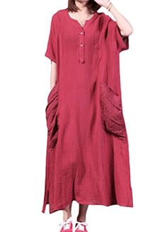 Minibee Women's Summer Cotton Linen Dress with Two Big Po... https://www.amazon.ca/dp/B01DNCTETO/ref=cm_sw_r_pi_dp_wKvMxbJJP5HRW