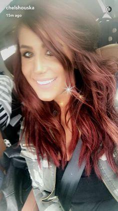 Chelsea Houska Red Hair Color formula - Best Hair Color for Summer Check more at. Chelsea Houska R Hair Color For Black Hair, Cool Hair Color, Dark Hair, Hair Colors, Chelsea Houska Hair Color, Hair Color Formulas, Lazy Hairstyles, Wedding Hairstyles, Hair Icon