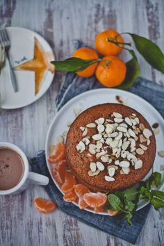 Orange Mint Almond Cake| Playful Cooking