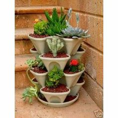 Stackable Planters Great Ideas