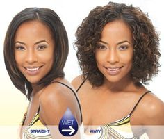 Wet and Wavy Weave Hairstyles | MILKY WAY Wet & Wavy Tempo Curl 8 IN