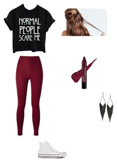 """""""Untitled #57"""" by averyvalclaunch on Polyvore featuring Converse and GUESS"""